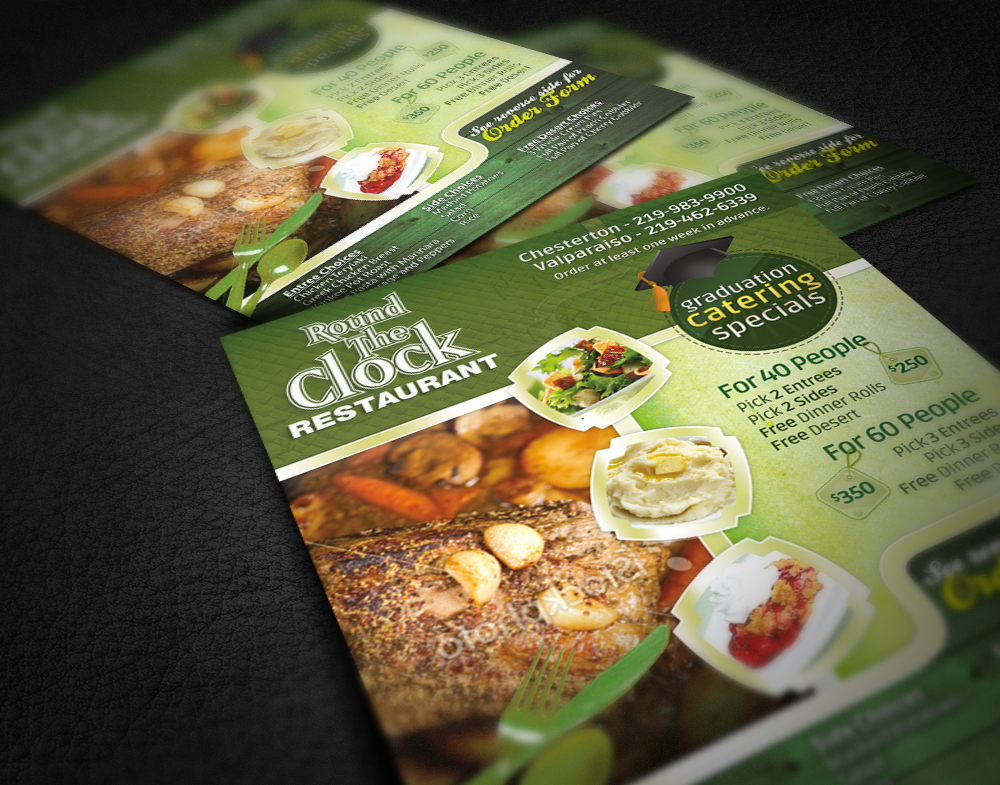 catering menu design recognize