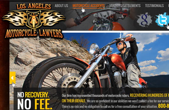 Motorcycle Lawyer Website Design