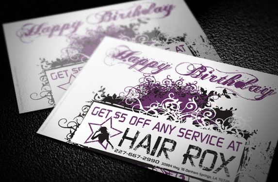Birthday Coupon Postcard Design