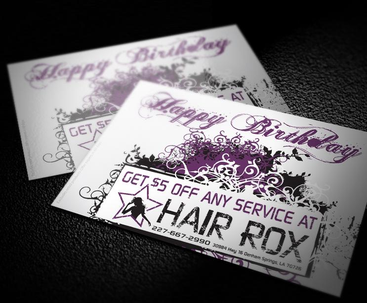 Hair Salon Postcard Design Baton Rouge