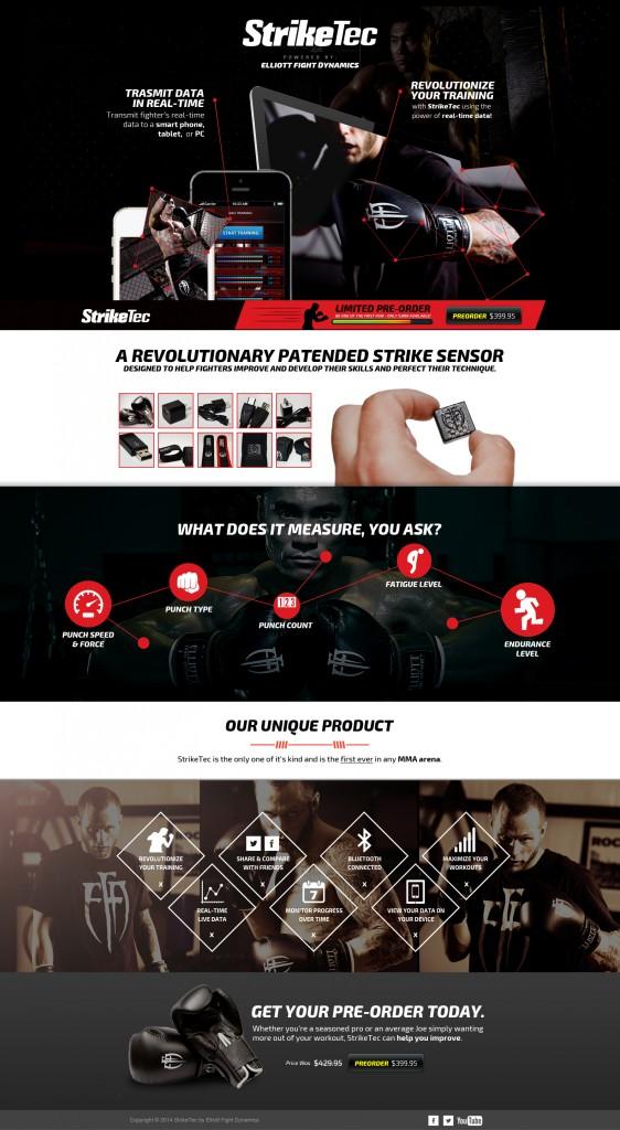 Dark Landing Page Website Design Full
